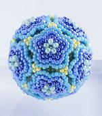 Beaded Flower Balls - 1 : Dark Purple