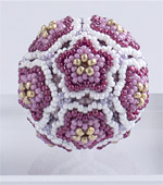Beaded Flower Balls - 1 : Red & Gold