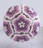 Beaded Flower Balls - 1 : Rose