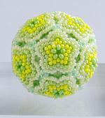 Beaded Flower Balls - 1 : Yellow Green
