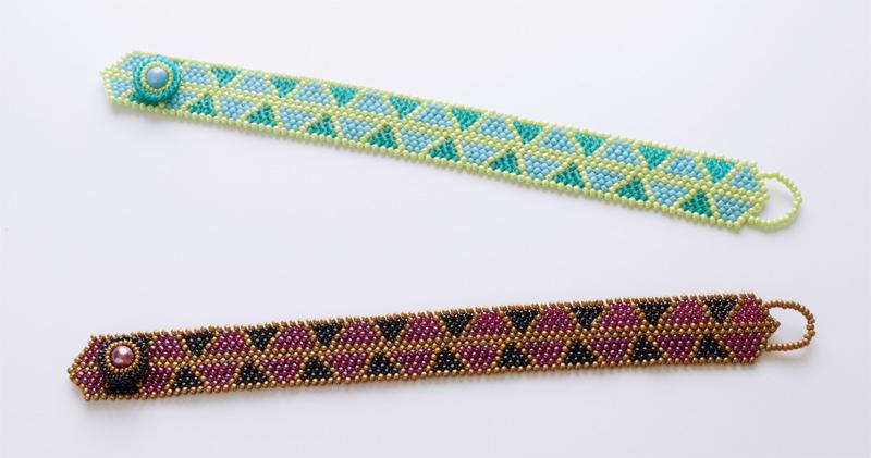 Triangular Bracelet, triangulate pattern