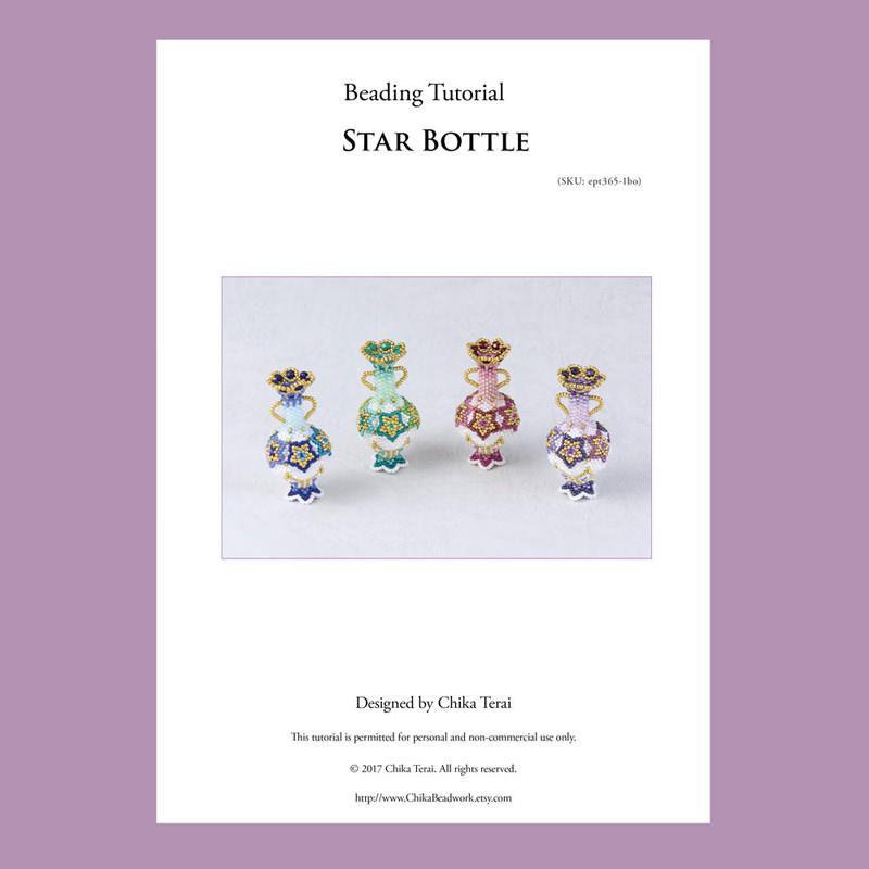 PDF Beading pattern, beaded star bottle, ept365-1