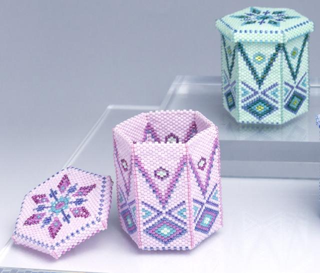 Detail of beaded hexagon box