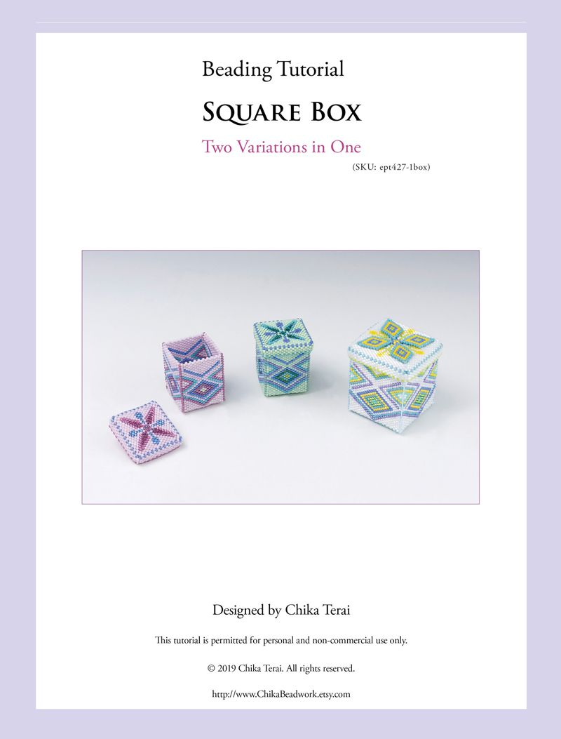 PDF Beading pattern for beaded square boxes, ept427-1