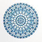 トルコの絵皿風ブルーのビーズのドイリー・小