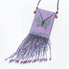 butterfly amulet bag (purple)