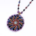 Radial Stripe Pendant Necklace