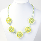 Frilly Flowers Necklace