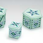 Mint green beaded boxes