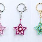 Beaded Star Key Rings