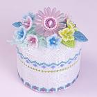 Beaded flower decorative trinket box