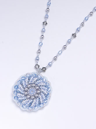 Radial Stripes Pendant: Blue Grey