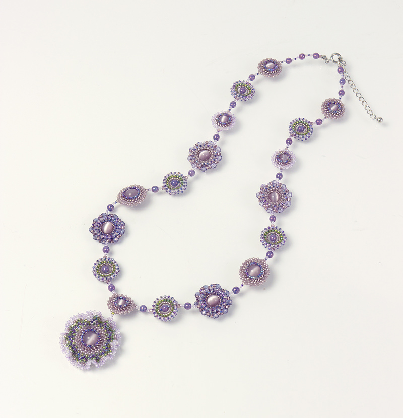 Frilly Flowers Necklace: Amethyst