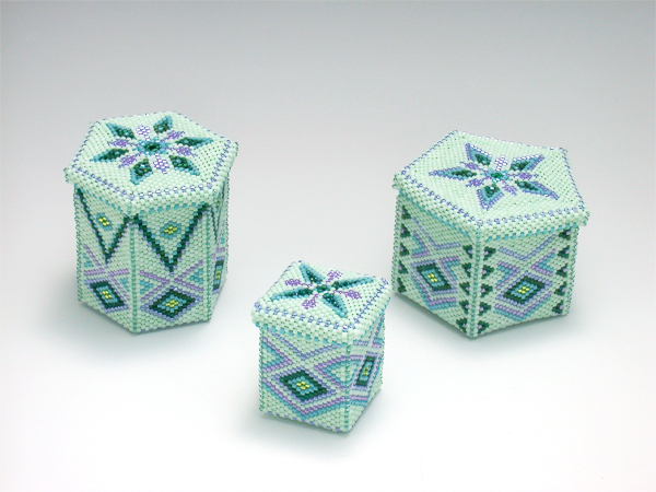 Bead mint green boxes