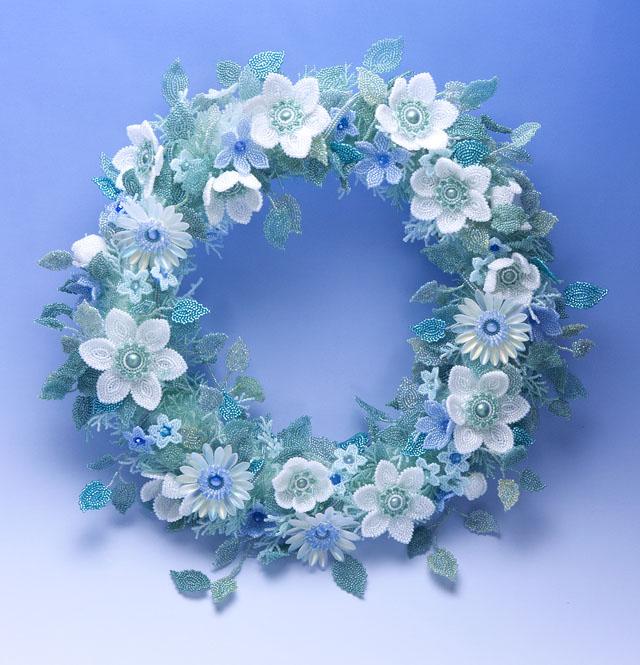 白花のリース
