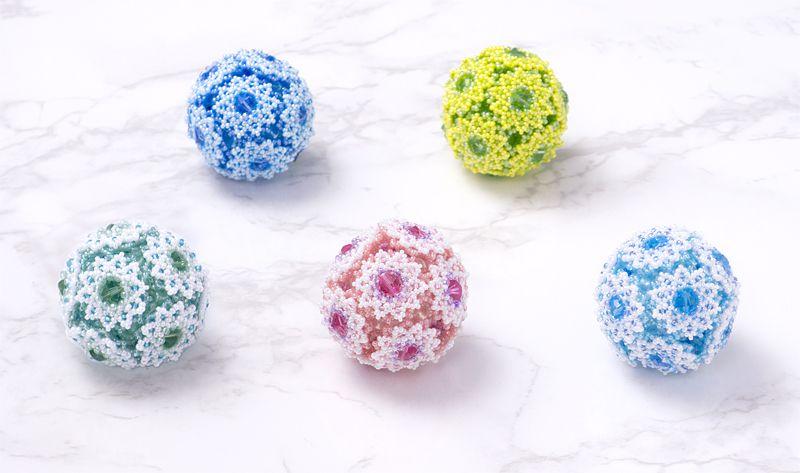 全5色のフラワーボールオーナメント - 2