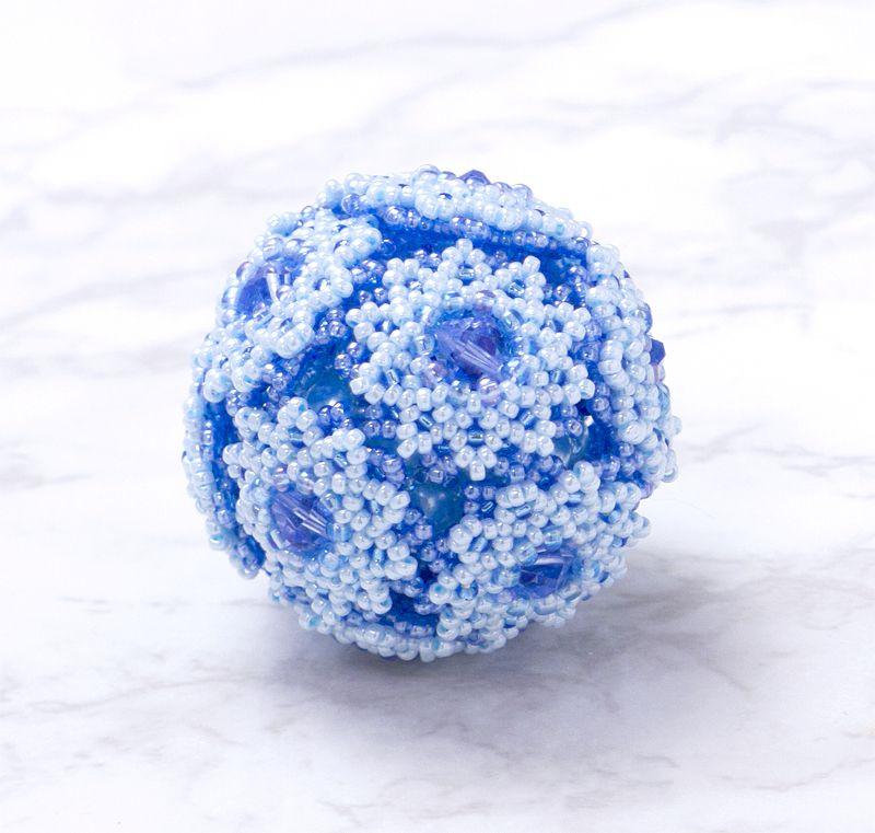 ブルーのフラワーボールオーナメント - 2