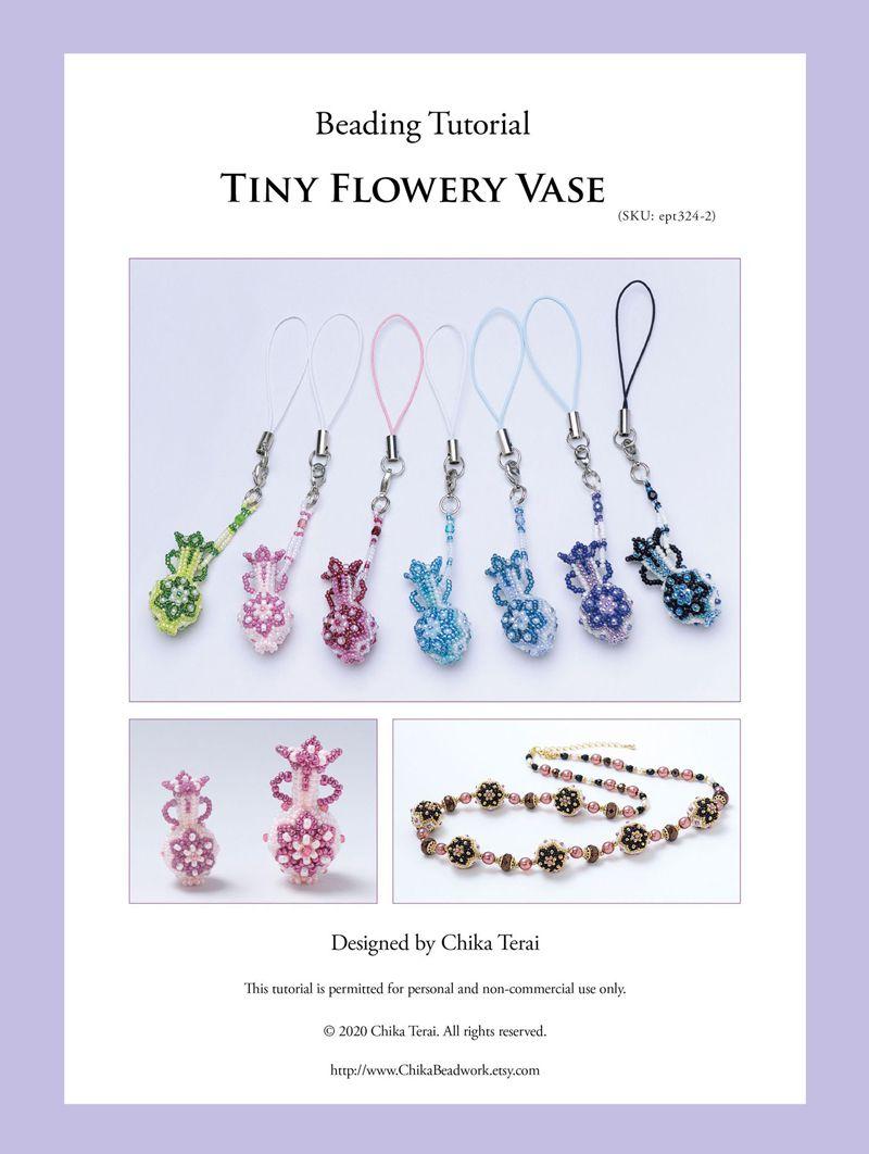 PDF Beading Tutorial of Flowery Vase, ept324-2