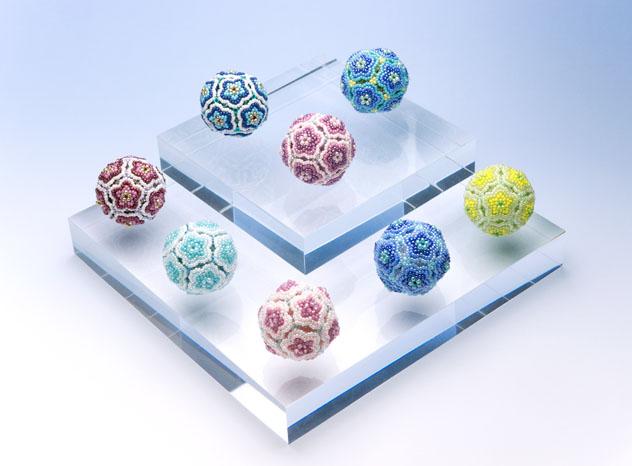 Beaded Flower Balls - 1