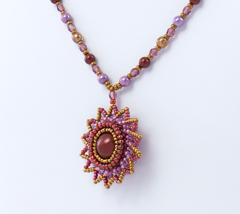 Detail of Red Sun Pendant