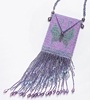Purple Butterfly Amulet Bag