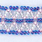 シェブロンチェインステッチの編み目画像