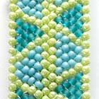 プレイテッドヘリンボーンステッチの編み目画像