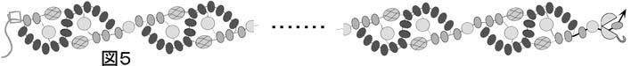 波模様のネックレスの作り方の図5