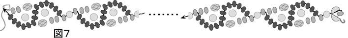波模様のネックレスの作り方の図7