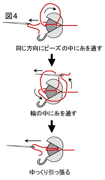 ネッティングを使ったネックレスの作り方:図4