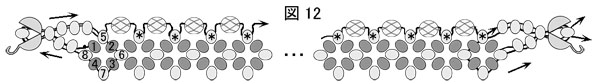 図12.ダイヤモンドチェインステッチのネックレスの作り方