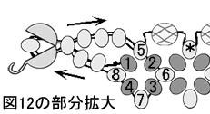 図12の部分拡大.ダイヤモンドチェインステッチのネックレスの作り方