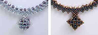 ダイヤモンドチェインステッチのネックレスの部分拡大写真
